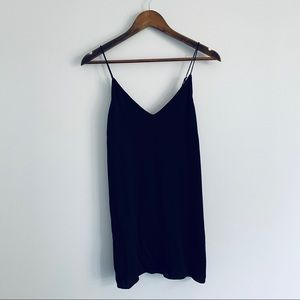 Wilfred Free Aritzia Vivienne Black Chiffon Dress